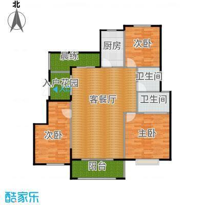 富兴御园135.14㎡电梯洋房B户型3室2厅2卫