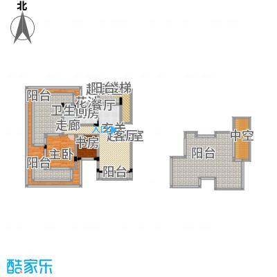 同景国际城恋山C6F户型2室1卫1厨
