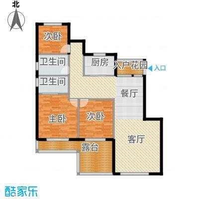 富兴御园123.54㎡类别墅K1-8户型3室2厅2卫