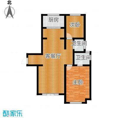 宜和澜岸101.04㎡A44号楼一区首层户型10室