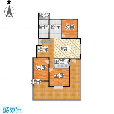 北京奥林匹克花园129.94㎡b2b-xy1上层户型10室