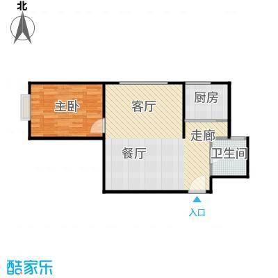 阳光银座二期74.54㎡A户型1室2厅1卫