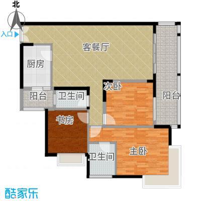 金辉苹果城100.54㎡-户型3室1厅2卫1厨