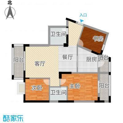 福地华庭113.90㎡房型户型3室1厅2卫1厨