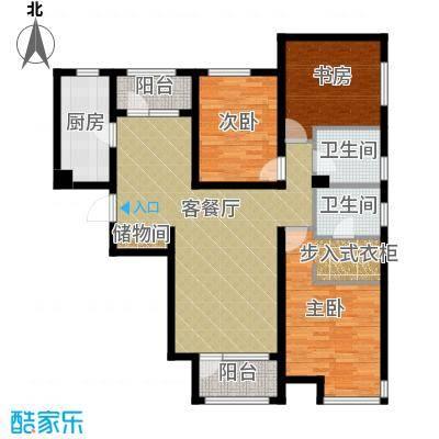 保利海棠湾123.00㎡户型3室2厅2卫