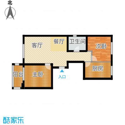 龙熙帝景77.58㎡10189户型10室