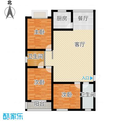 景泰花苑153.15㎡A1户型3室1厅2卫1厨