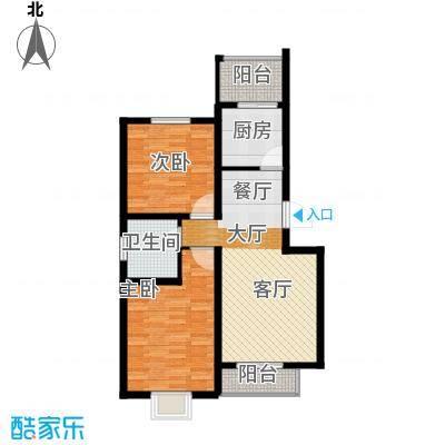 港东未来城89.12㎡A2户型2室2厅1卫