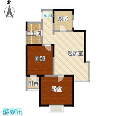 沽上江南71.97㎡高层C户型2室2厅1卫
