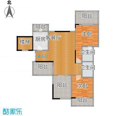 蓝溪谷地90.16㎡尚郡一期39栋第6层B户型2室1厅2卫1厨