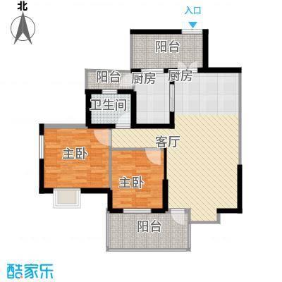 红树湾85.21㎡二期5、6号楼奇偶层E-1户型10室