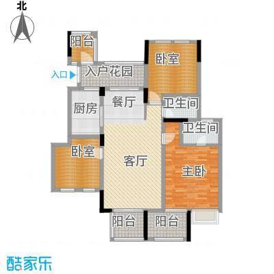 斌鑫中央国际公园114.15㎡一期2-7号楼标准层2户型3室2厅2卫