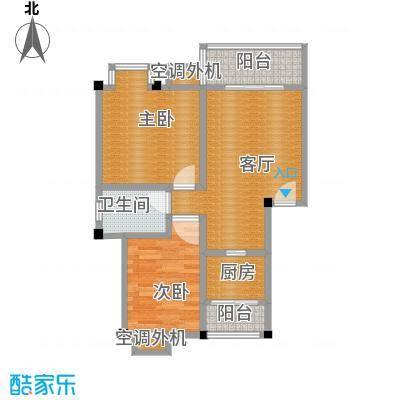 鼎秀风林64.25㎡C户型2室1厅1卫1厨
