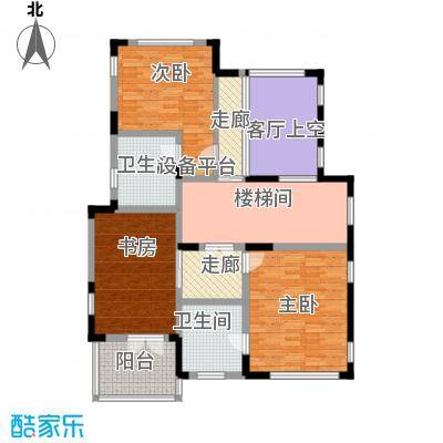 康城暖山110.46㎡图为B3二层户型3室2卫