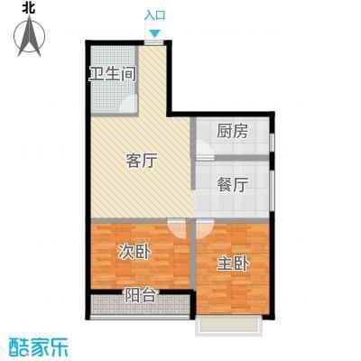 景泰花苑99.46㎡户型2室1厅1卫1厨