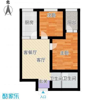 江林公园里43.49㎡江林新城4号楼E户型10室