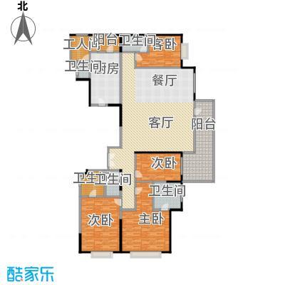 富力十号251.13㎡A1栋一单元01室标准层平面图(奇数层)户型10室