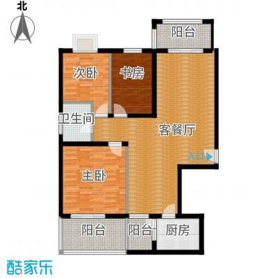 千泓花苑108.85㎡图为户型3室1厅1卫1厨