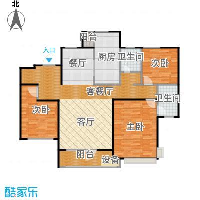 首玺154.57㎡D1户型3室2厅1卫