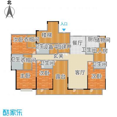 富力十号288.49㎡A5栋标准层平面图(九层)二单元02户型10室