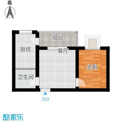 公园新世纪54.79㎡户型1室1厅1卫