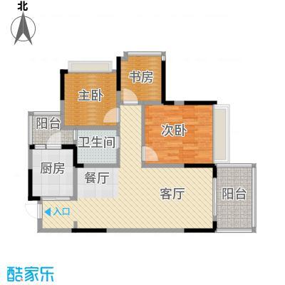 """万科悦峰89.00㎡110315转-07""""2+1""""室双阳台户型3室1厅1卫1厨"""
