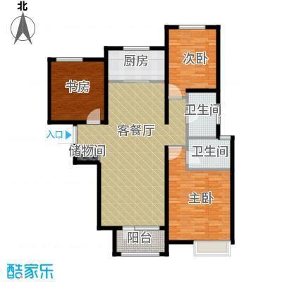 保利海棠湾129.00㎡户型3室2厅2卫