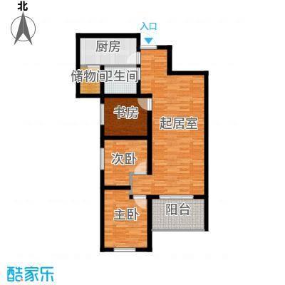 金辉天鹅湾88.00㎡胜景户型3室2厅1卫