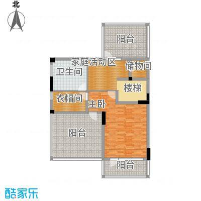复地温莎堡116.72㎡联排别墅红府三层平面户型1室1卫