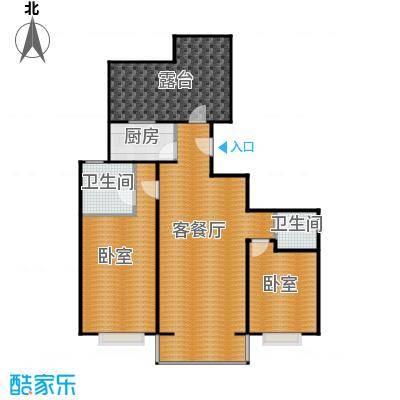 京东领秀城110.00㎡C4户型2室2厅1卫