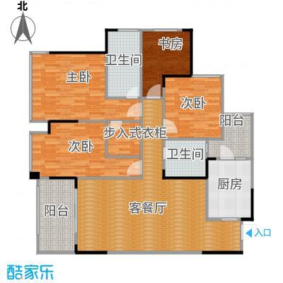 """万科悦峰119.00㎡110315转-06""""3+1""""室户型4室1厅2卫1厨"""