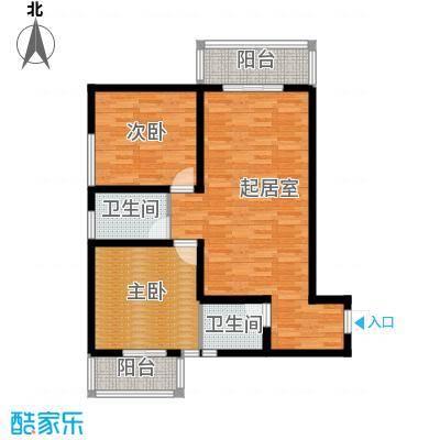 达成馨苑96.63㎡1号楼A户型10室