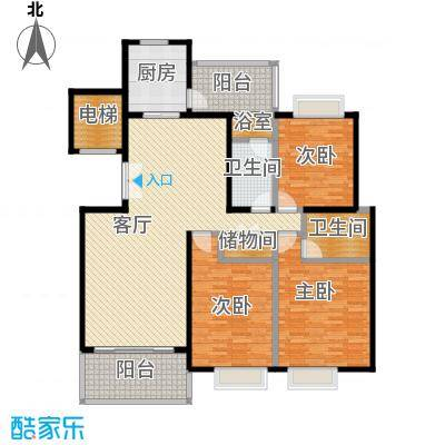 天一城145.61㎡a户型3室1厅2卫1厨