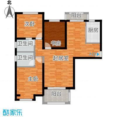 中海曲江碧林湾129.00㎡户型3室2卫1厨
