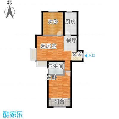 沽上江南70.47㎡高层A户型2室2厅1卫