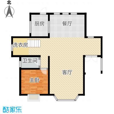 团泊湖庭院92.55㎡户型10室