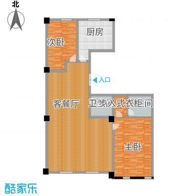 海河新天法桐墅218.21㎡一期B座标准层B1户型2室2厅2卫