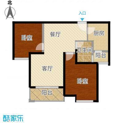 中海曲江碧林湾75.95㎡户型1厅1卫1厨