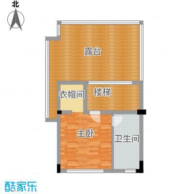 艾维诺森林70.95㎡联排E2三层户型2室1卫