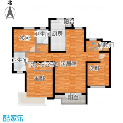 首玺154.57㎡D2户型3室2厅2卫