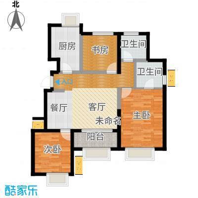 旭辉澜郡117.03㎡公园电梯洋房H标准层户型3室2厅2卫