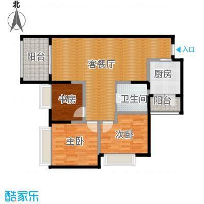 """万科悦峰102.00㎡110315转-03""""2+1""""室户型3室1厅1卫1厨"""