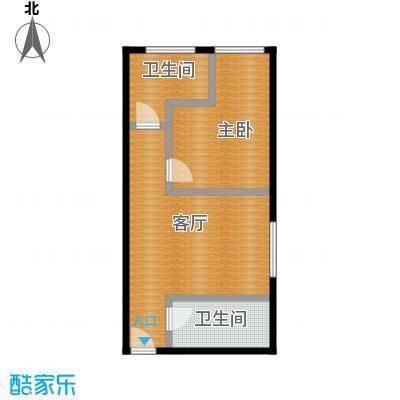 达成馨苑54.85㎡2号楼E户型10室