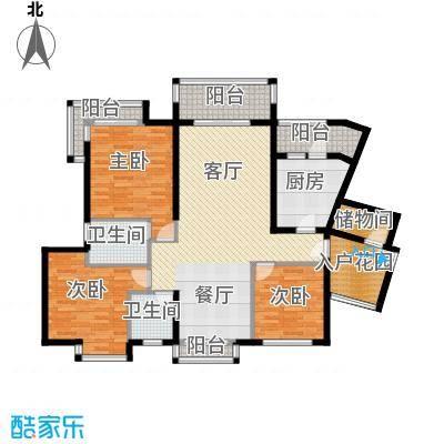 珊瑚水岸122.00㎡二期1、3、6栋2号房2、5、7栋1号房户型3室2厅2卫