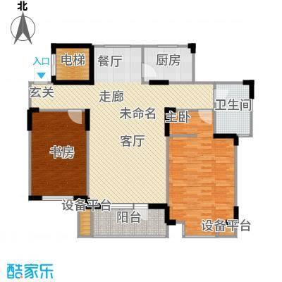津滨藏锦121.00㎡2-F户型2室2厅1卫