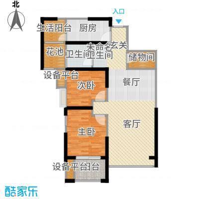缤纷南郡90.03㎡中铁(奇数层)D1b户型10室
