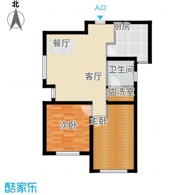 听涛苑86.00㎡F户型2室1厅1卫