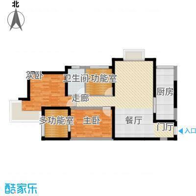 上和城100.97㎡4、5、6、7号楼A户型2室2厅1卫
