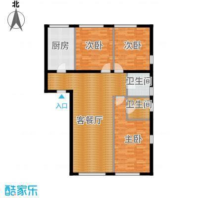 紫金广场112.63㎡E户型3室2厅2卫