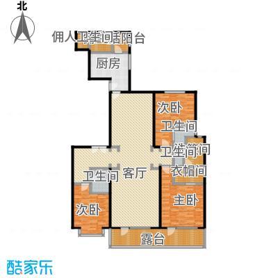 富力十号207.77㎡A1栋二单元01室标准层平面图(偶数层)户型10室